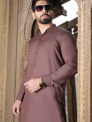 Brown Blended Kameez Shalwar - AL-KS-2514