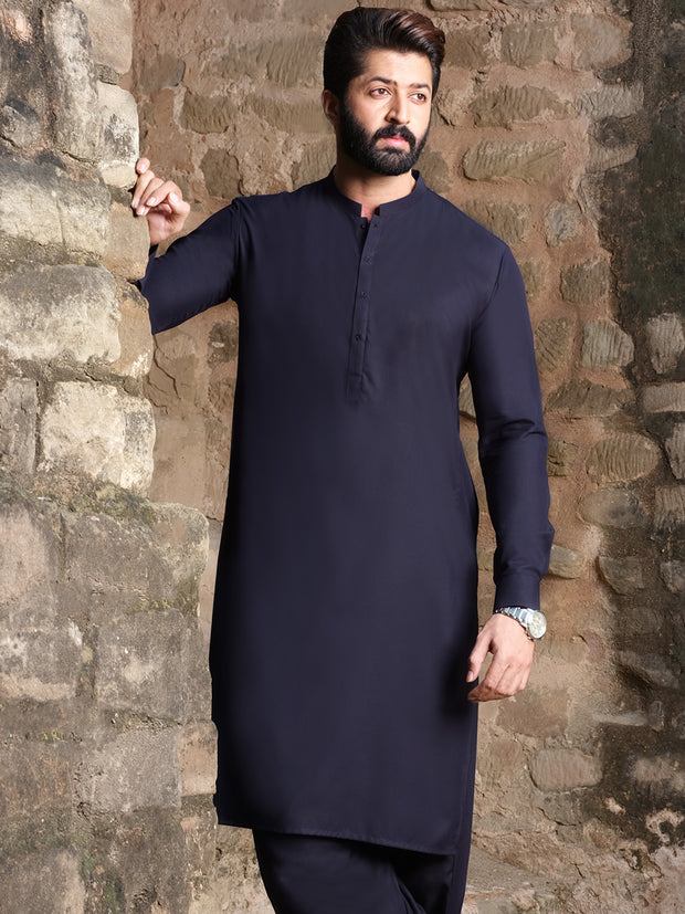 Blue Blended Kameez Shalwar - AL-KS-2546