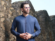 Blue Blended Kameez Shalwar - AL-KS-2558