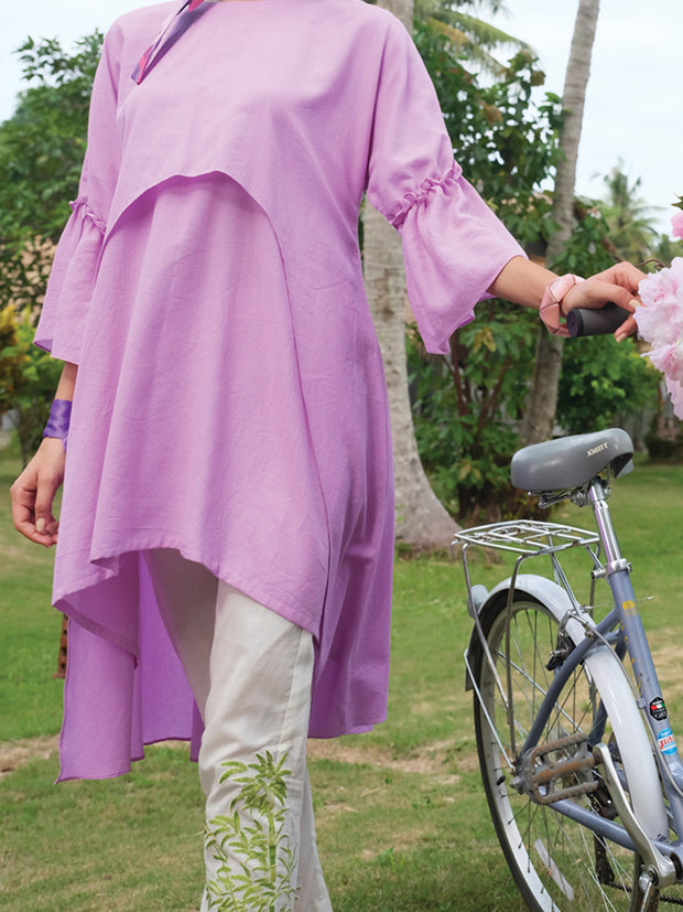 Purple Jacquard Tunic - LK-662