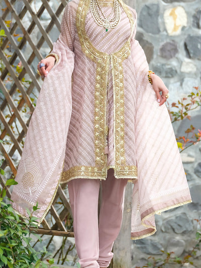 Peach Viscose 3 Piece Formal Suit - LS-238