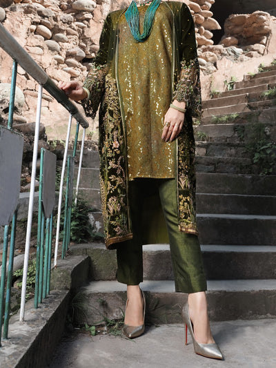 Green 2 Piece Formal - AL-2PS-LS-298