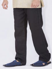 Black Men Linen Pant - AL-MP-005A