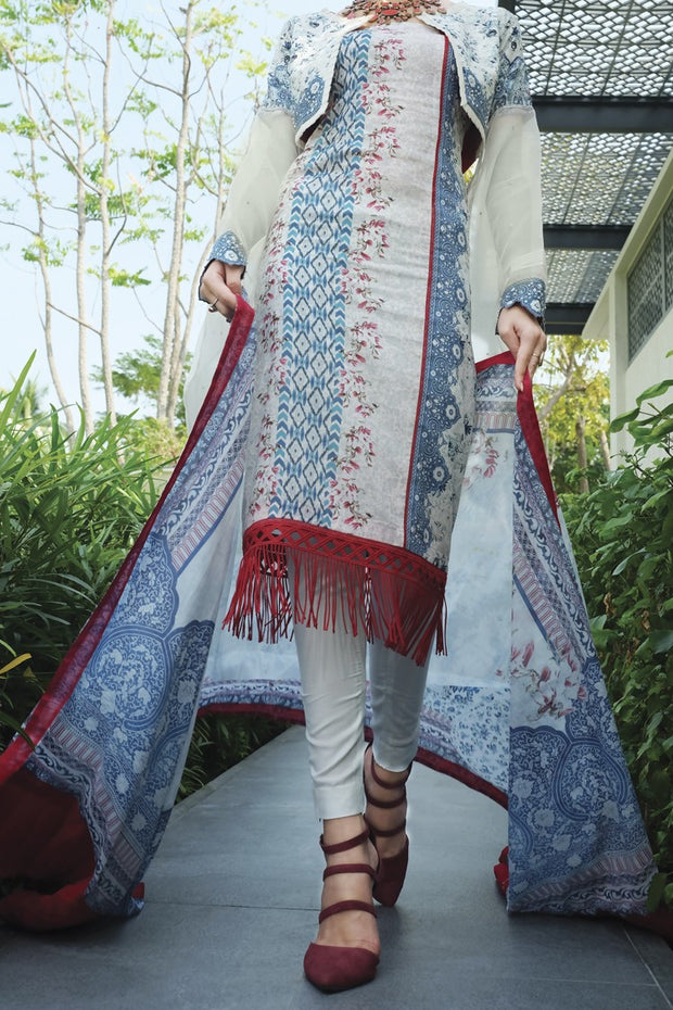 Blue Lawn 2 Piece Unstitched - ALP-659