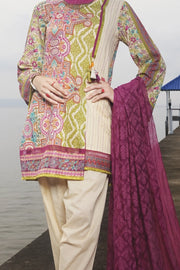 Green Lawn 3 Piece Stitched - ALP-618