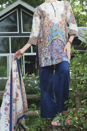 White Lawn 3 Piece Unstitched - ALP-620
