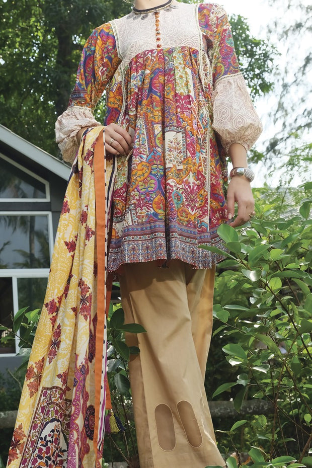 Multicolor Lawn 3 Piece Unstitched - ALP-624