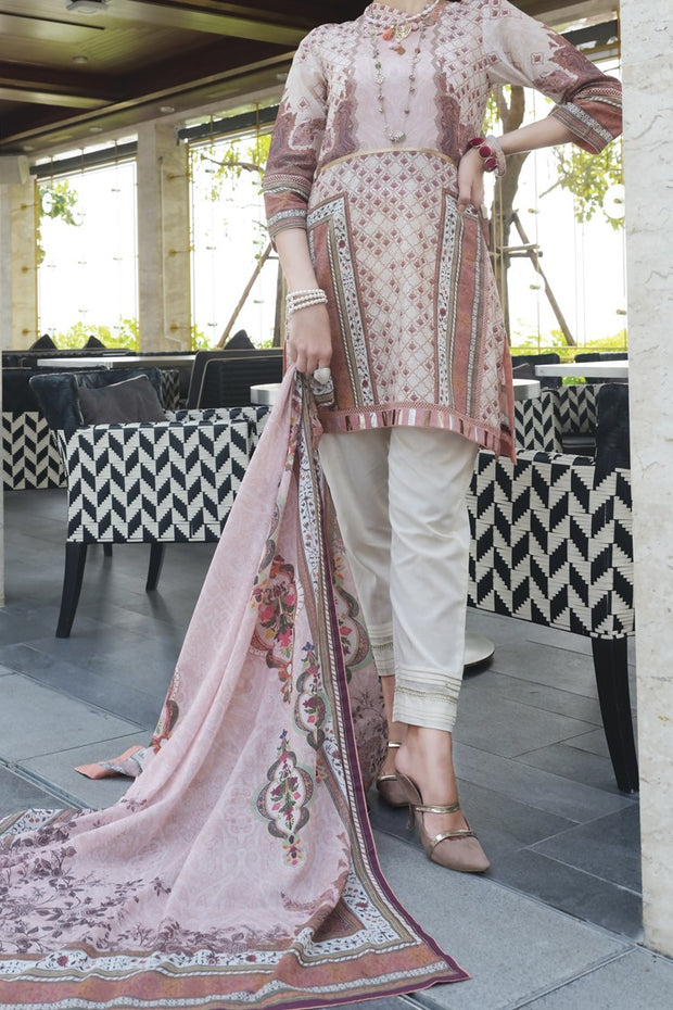 Pink Lawn 2 Piece Unstitched - ALP-657