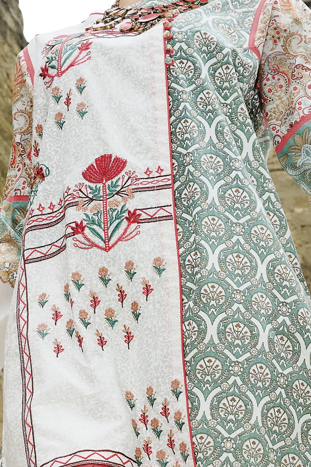 Mint Green Lawn 3 Piece Stitched - ALP-670