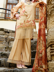 Natural Lawn 3 Piece Stitched - ALP-682