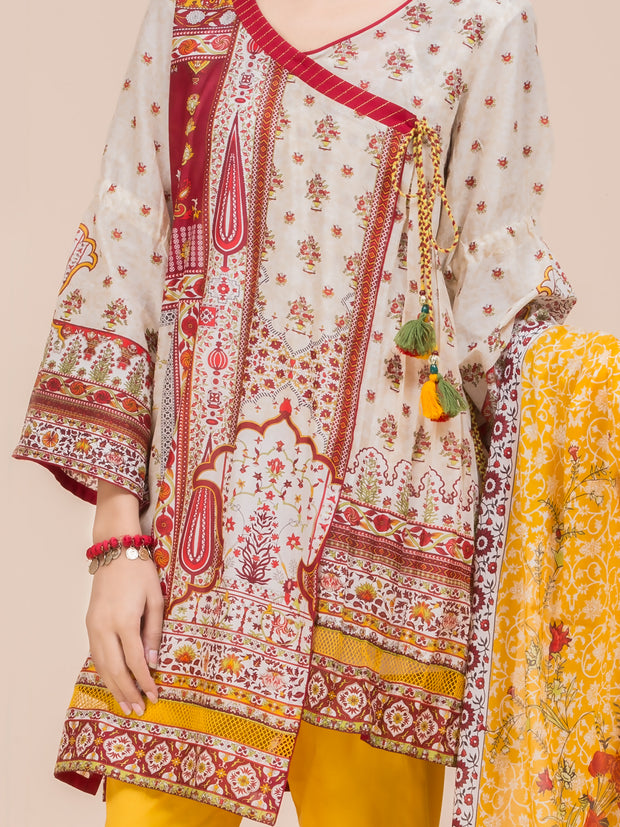 Beige Lawn 3 Piece Unstitched - ALP-3PS-780