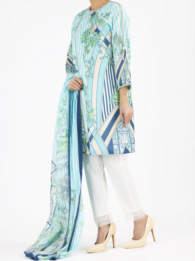 Aqua Lawn 2 Piece Unstitched - ALP-2PS-803