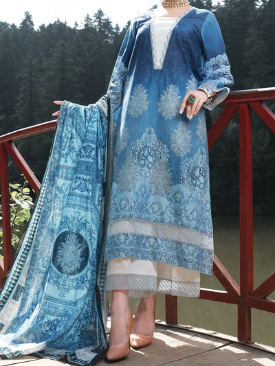 Blue Cambric 3 Piece Stitched - ALP-3PS-971/S