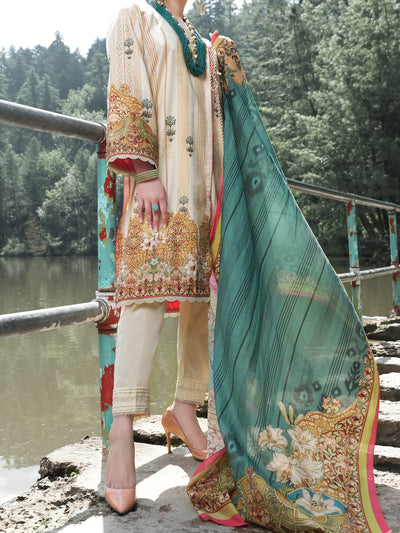 Almirah ALP-3PS 972 Beige Lawn Collection