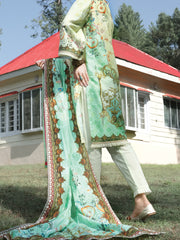Green Cambric 3 Piece Unstitched - ALP-3PS-973