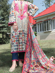 Beige Cambric 3 Piece Unstitched - ALP-3PS-977