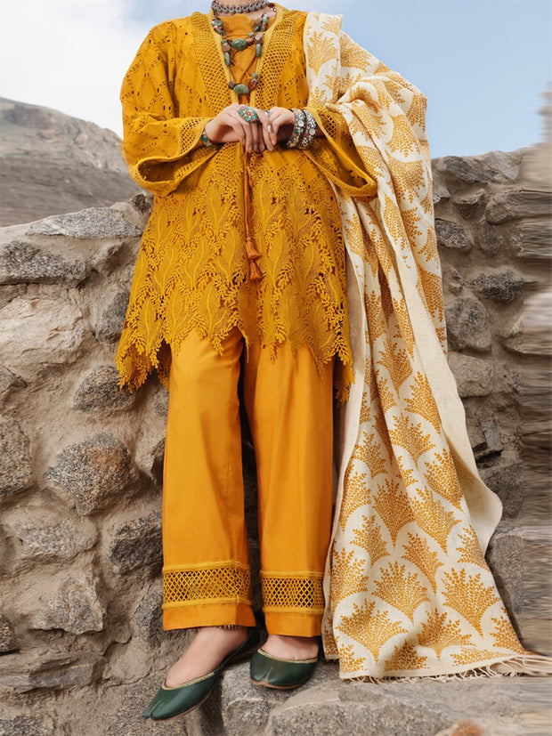 Mustard 3 Piece Unstitched - AWP-3PS-217