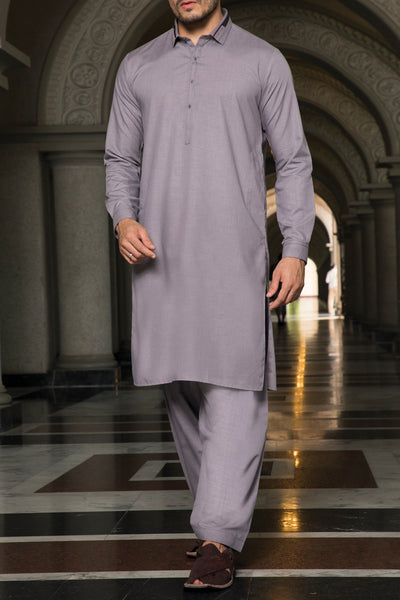 Purple Blended Kameez Shalwar - AL-KS-2349