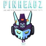 PinHeadz - Bunka Design - Breakaway Masks - Blue Face (Pin & Magnet) Quiccs