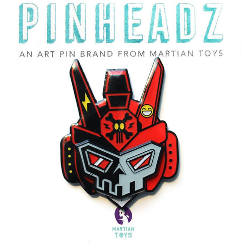 PinHeadz - Bunka Design - Breakaway Masks - Red Face (Pin & Magnet) Quiccs
