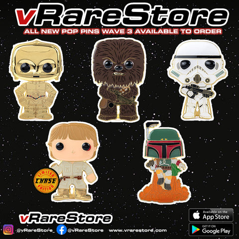 FUNKO POP PINS : STAR WARS WAVE 3 - SET OF 5 WITH CHASE