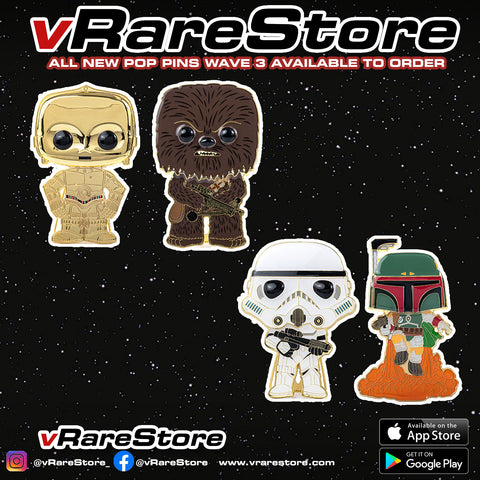 FUNKO POP PINS : STAR WARS WAVE 3 - SET OF 4 NO CHASE