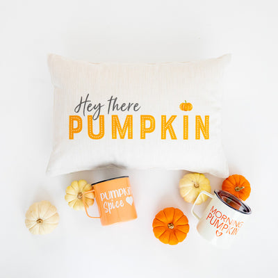 Pillow Lumbar - Hey There Pumpkin - Insert Included