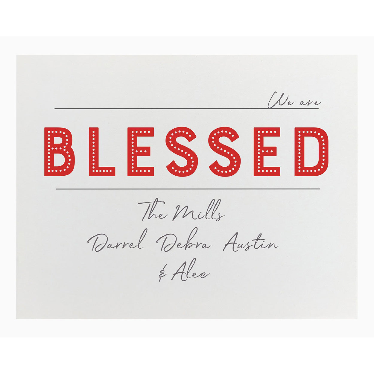 Canvas Personalized - Blessed