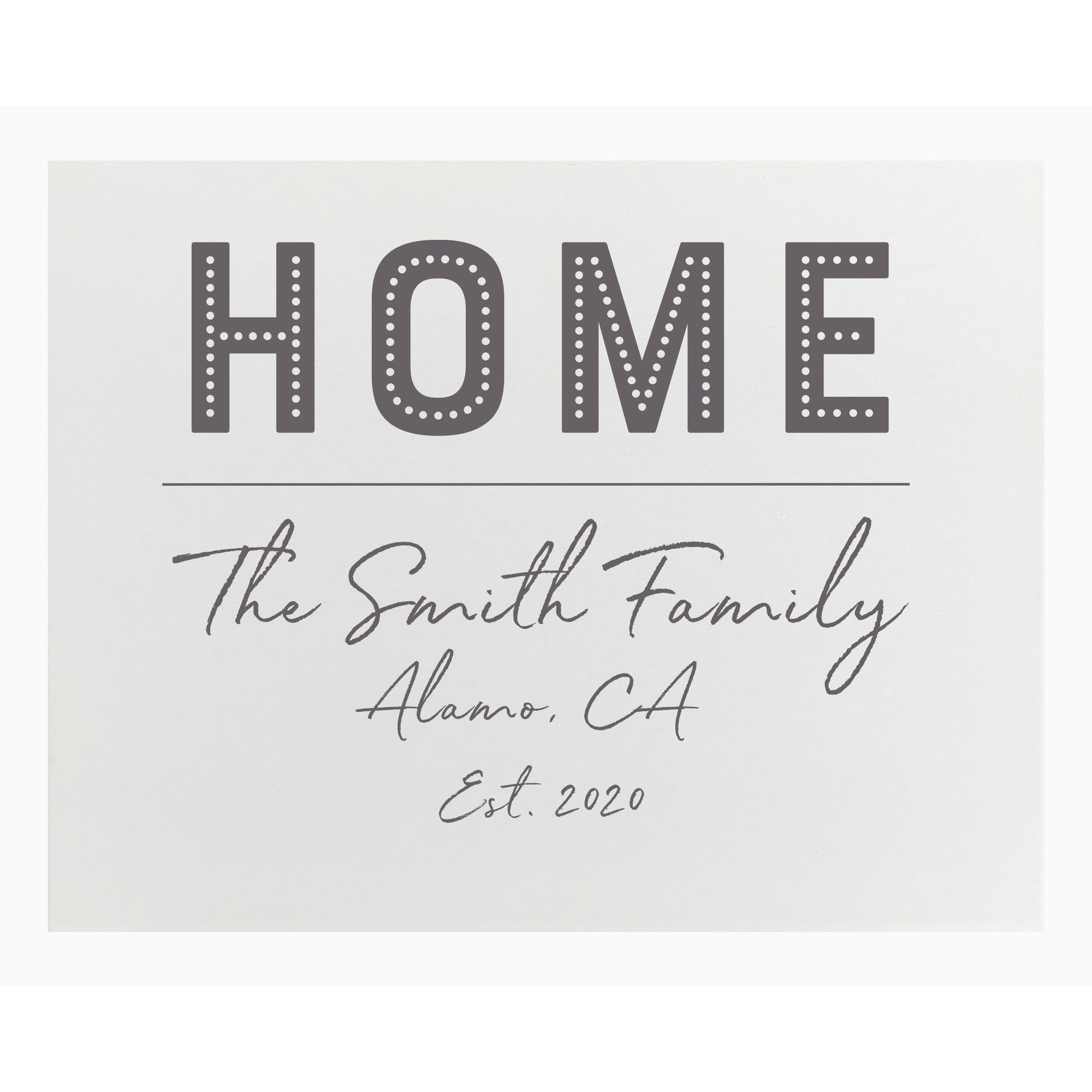 Canvas Personalized - Home