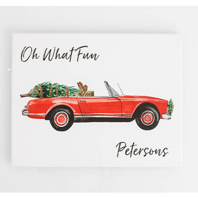 Canvas Personalized - Holiday Convertible Oh What Fun