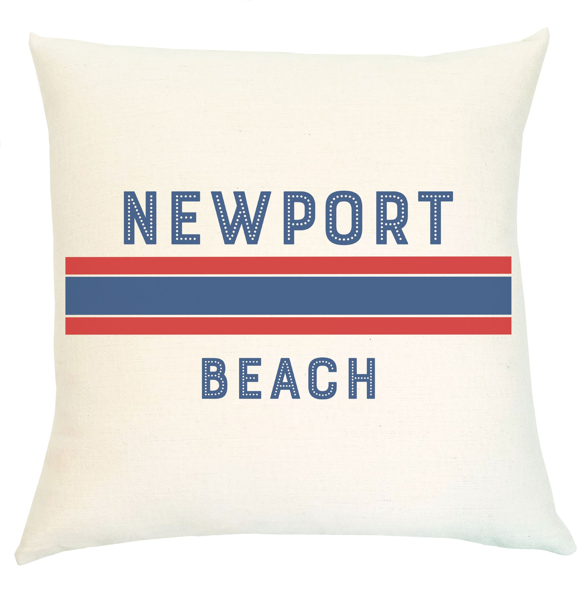 Pillow Personalized - Striped with City Name