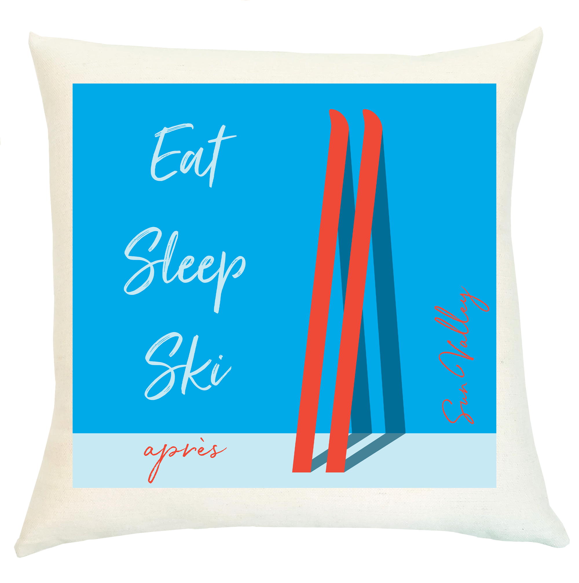 Pillow Personalized - Eat Sleep Ski Apres with Family Name or Location