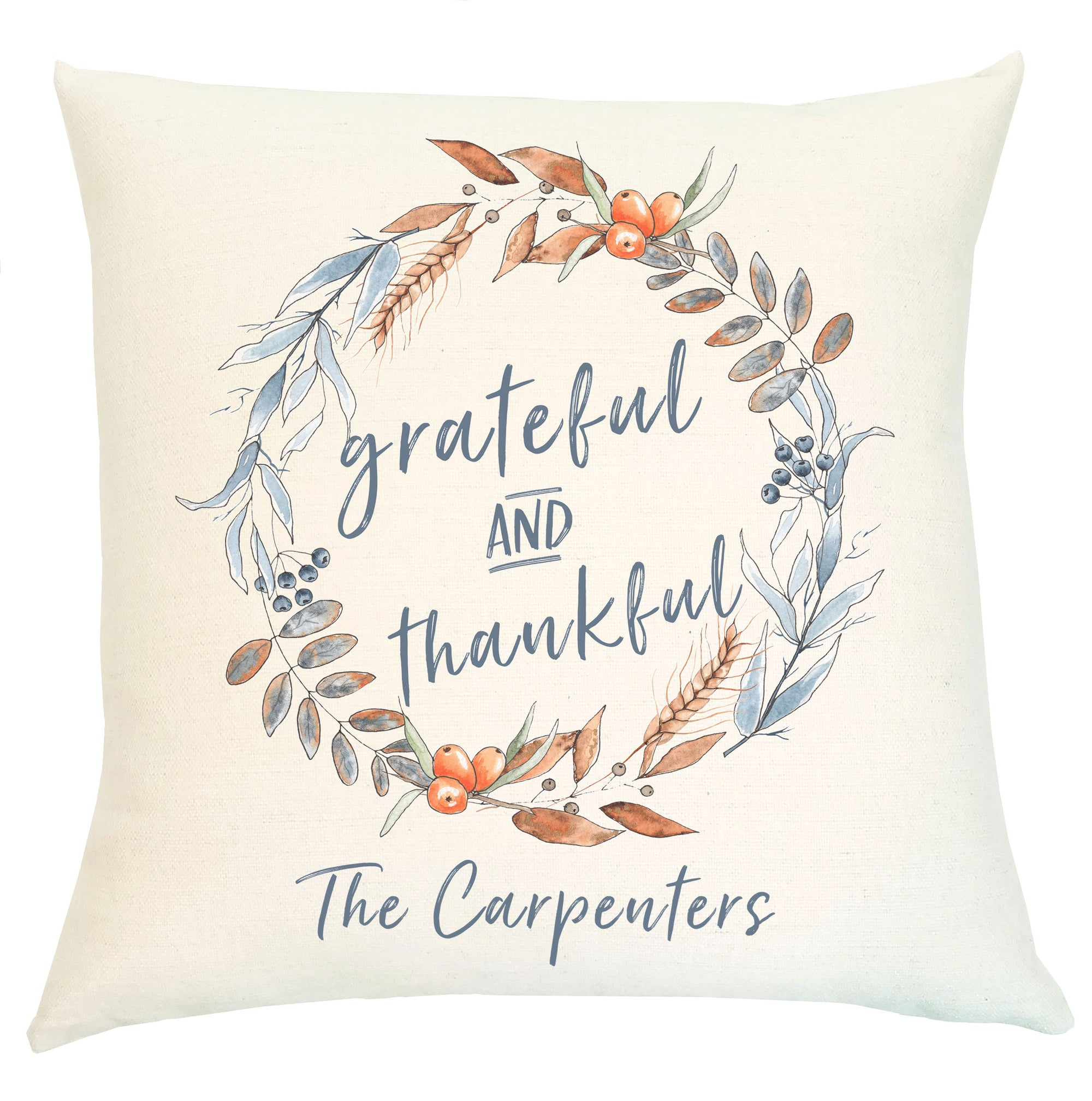 Pillow Personalized - Grateful & Thankful