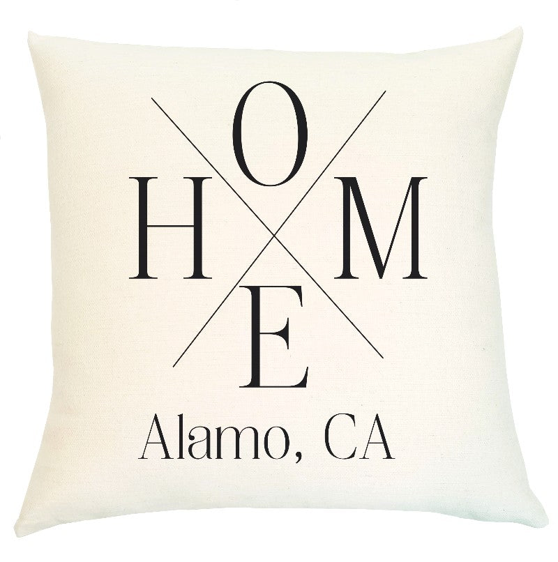 Pillow Personalized - Home Crossed Lines