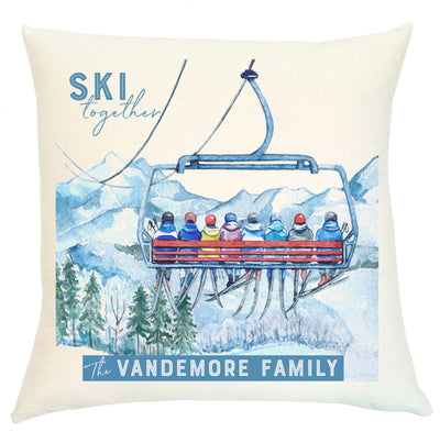 Pillow Personalized - Ski Together