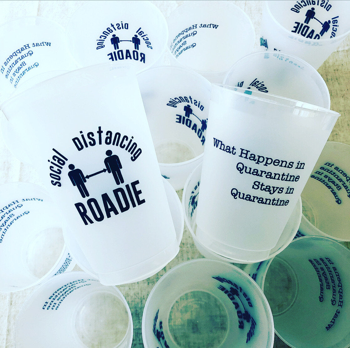 Frosted Stadium Cups - Social Distancing Roadie
