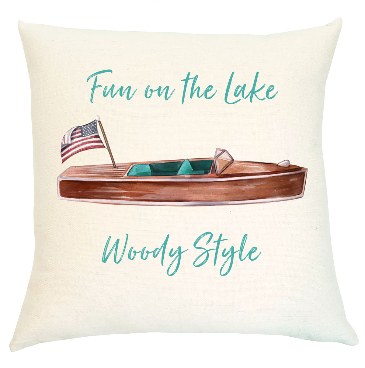 "Pillow - Fun on the Lake ""Woody Style"""
