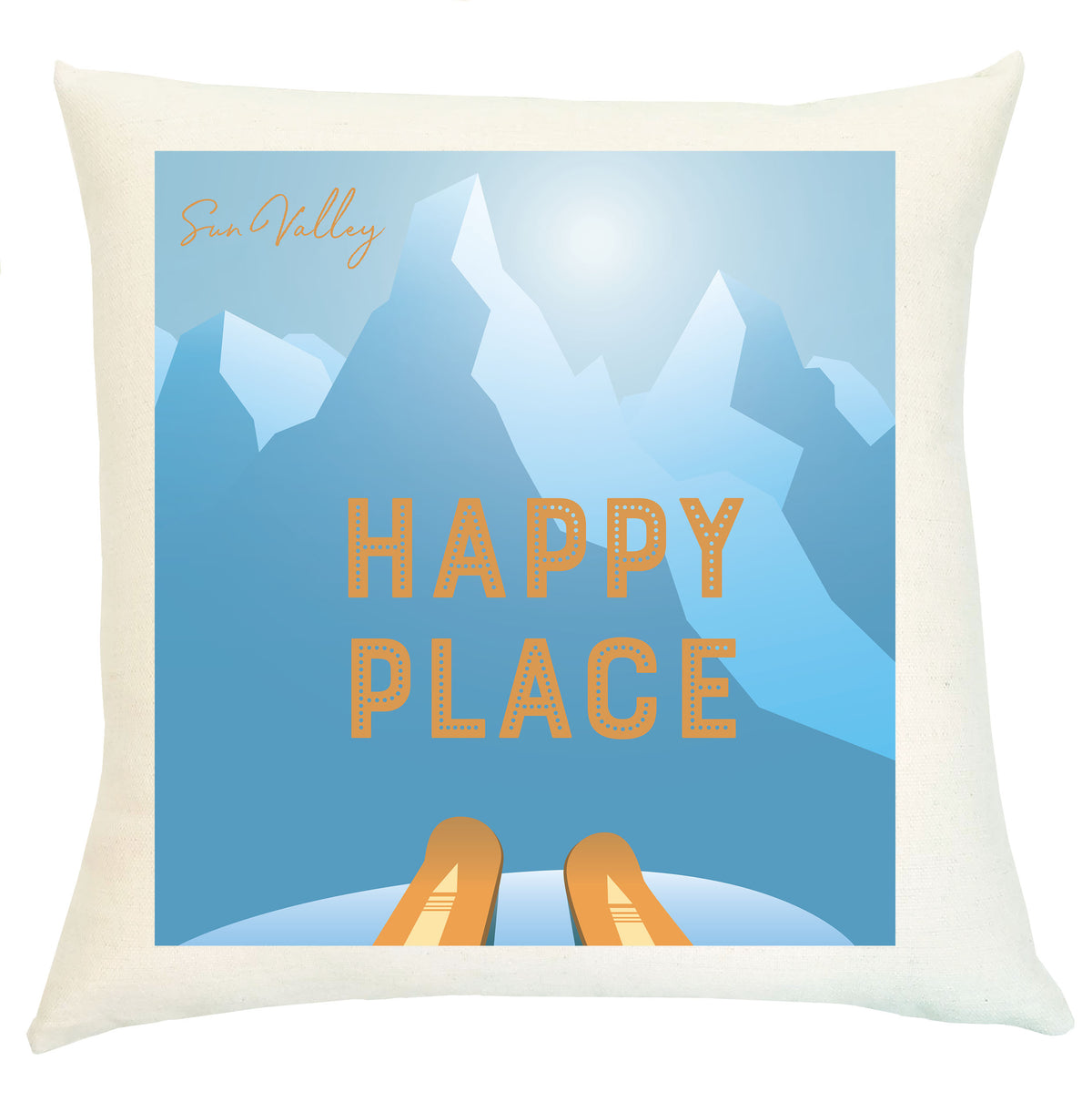 Pillow Personalized - Happy Place with Family Name or Location