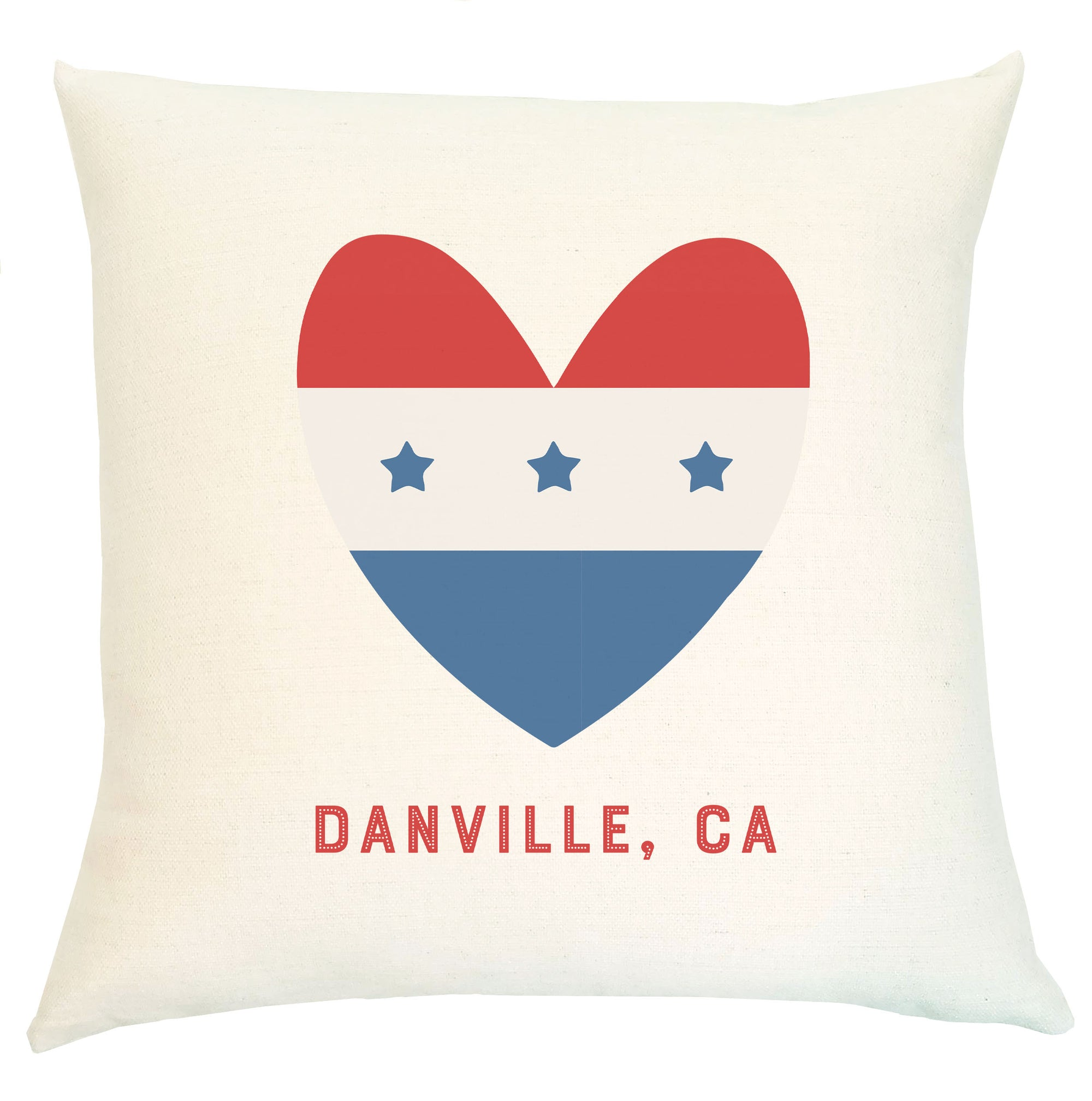 Pillow Personalized - Patriotic Heart