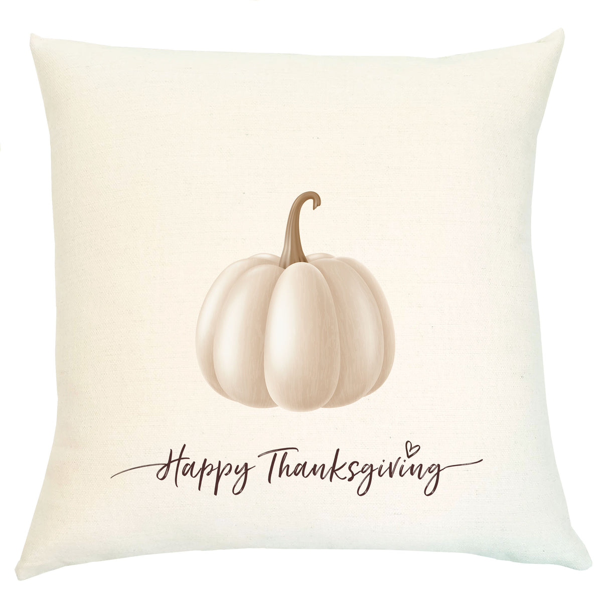 Pillow - White Pumpkin Happy Thanksgiving Pillow
