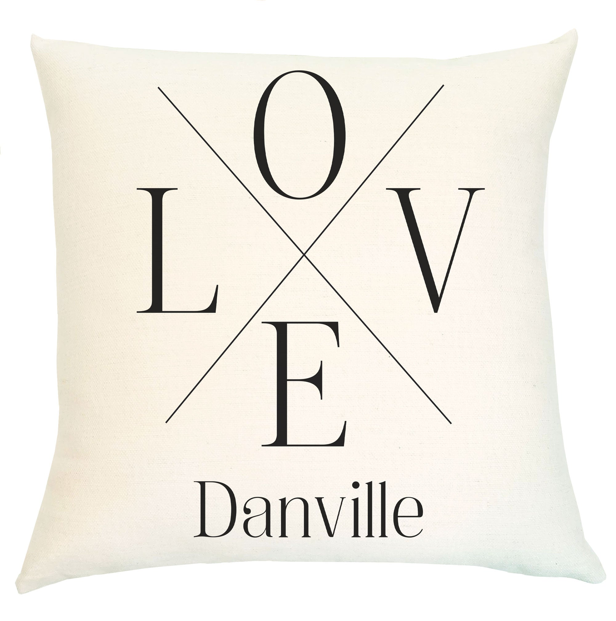 Pillow Personalized - Love Crossed Lines