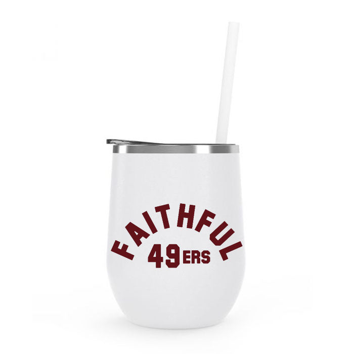 Insulated Tumbler Wine - Faithful 49ers
