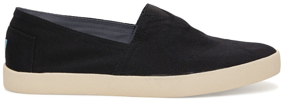TOMS Black Canvas Men's Avalon Slip- Ons