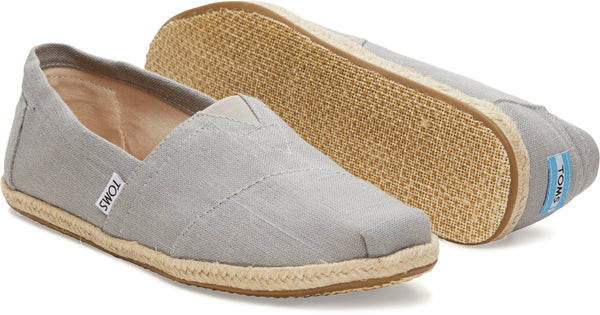 TOMS Grey Linen Rope Sole Men's Classics