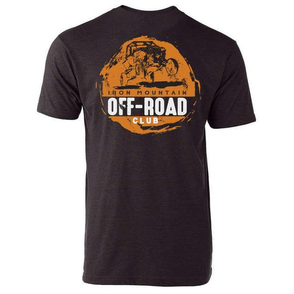 IMR ATV Off-Road Club Tee - Graphite/Orange - Iron Mountain Resort