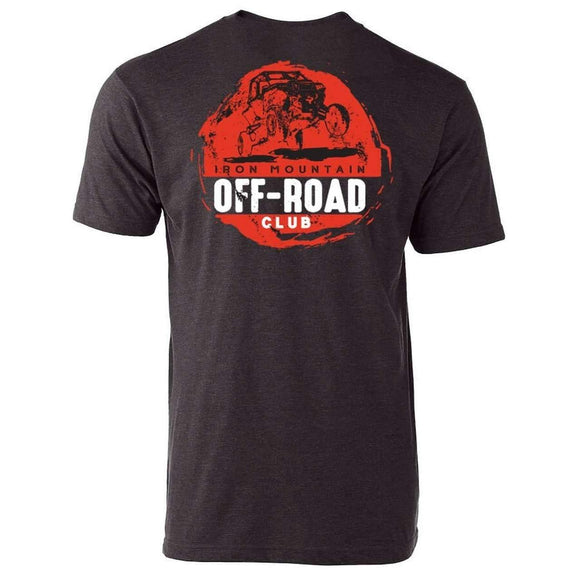 IMR ATV Off-Road Club Tee - Graphite/Red - Iron Mountain Resort