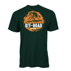 IMR ATV Off-Road Club Tee - Green/Orange - Iron Mountain Resort