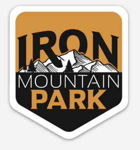Iron Mountain Badge Sticker - Gold - Iron Mountain Resort