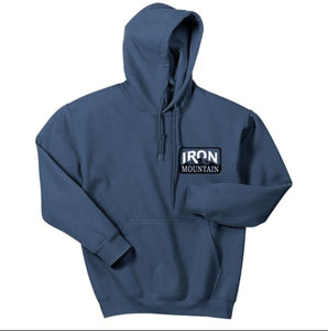 Iron Mountain Logo Hoodie - Blue - Iron Mountain Resort