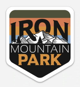 Iron Mountain Logo Sticker - Multi Color - Iron Mountain Resort
